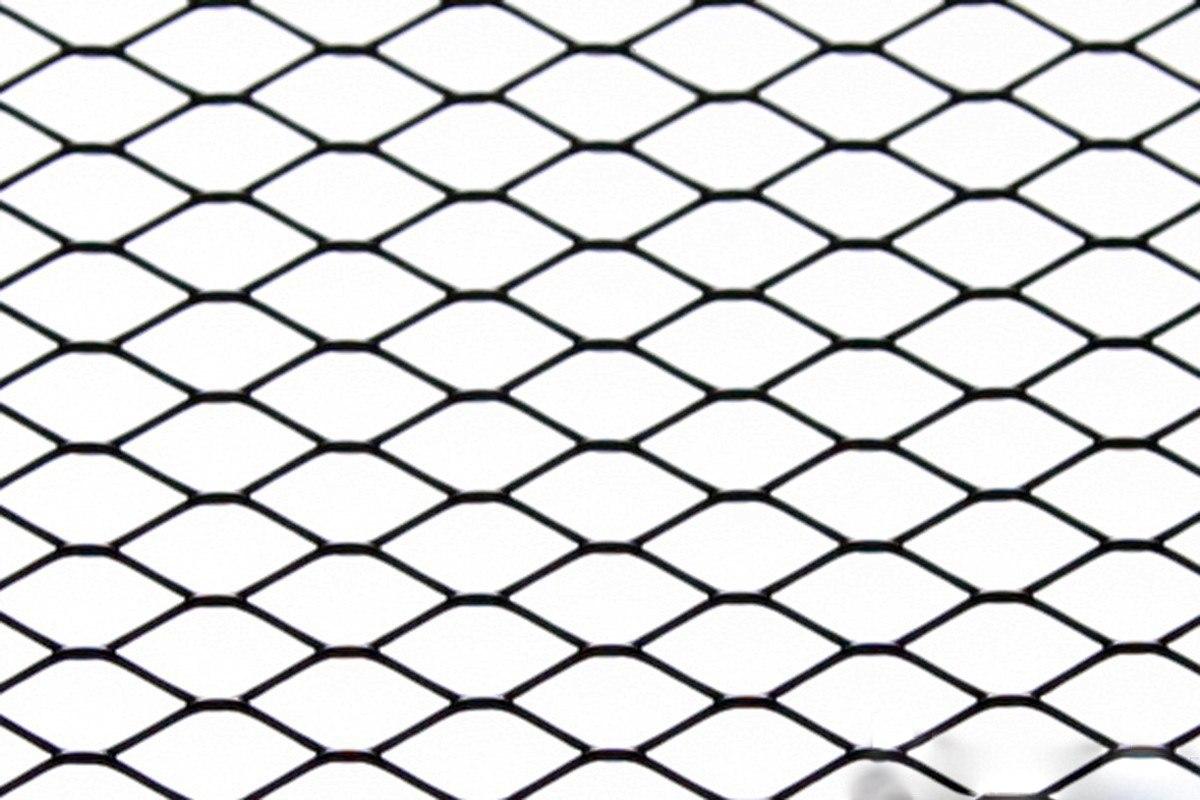 SIATKA ALU DIAMOND BLACK 120 * 20cm - GRUBYGARAGE - Sklep Tuningowy